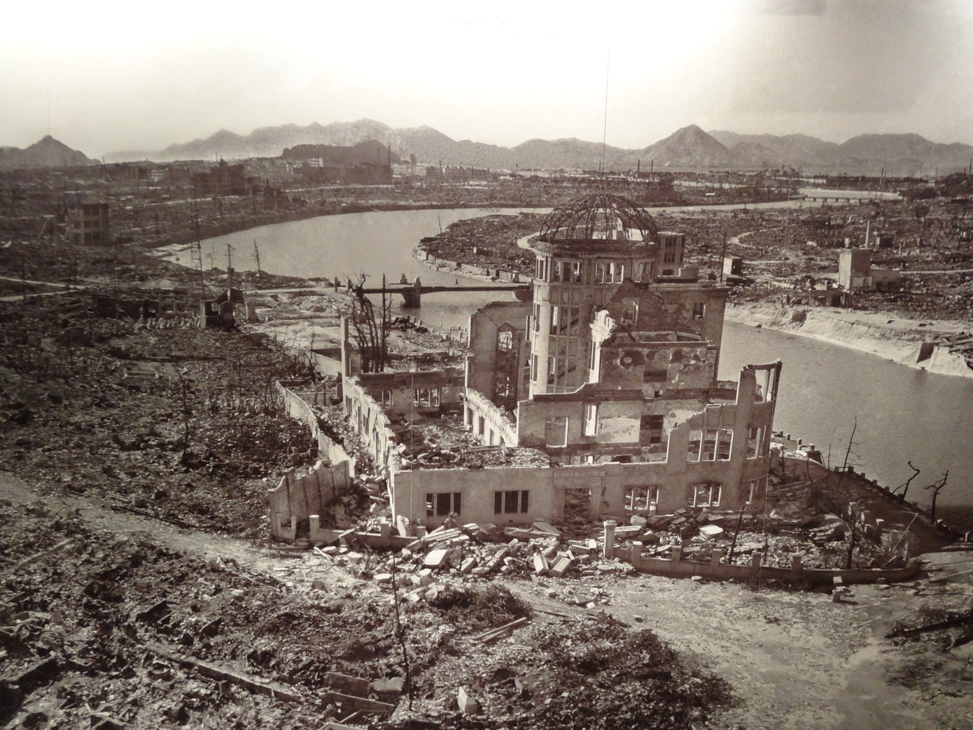 Picture of Hiroshima from 1945 after the atomic bomb.