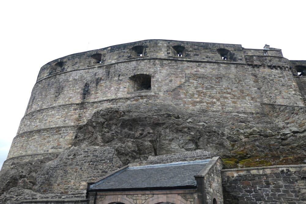 Bastions at the entrance of Edinbugh Castle.