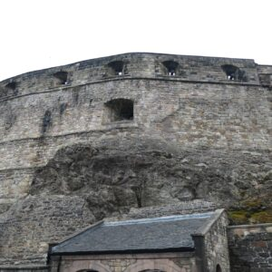 Bastions at the entrance of Edinbugh Castle.