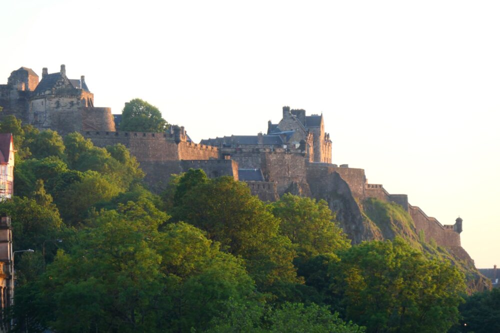 Edinburgh Castle seen from Edinburgh City.