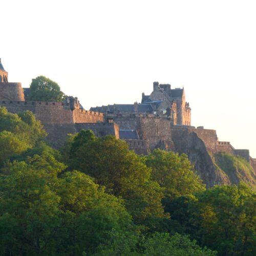 Edinburgh Castle seen from Edinburgh City.