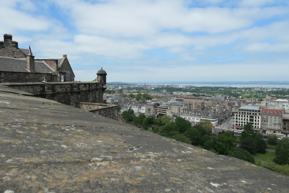 Panorama seen from the bastions of Edinburgh Castle.