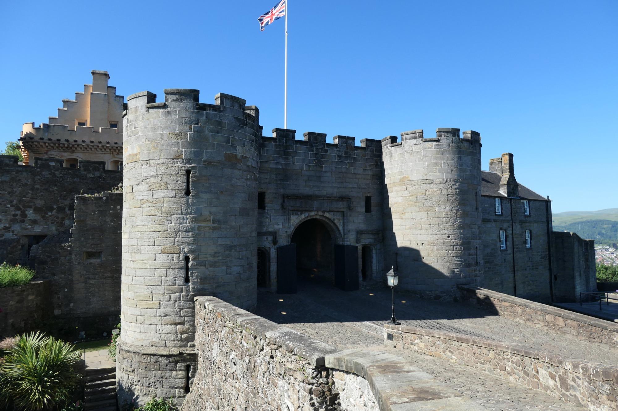 Main entrance to stirling castle.