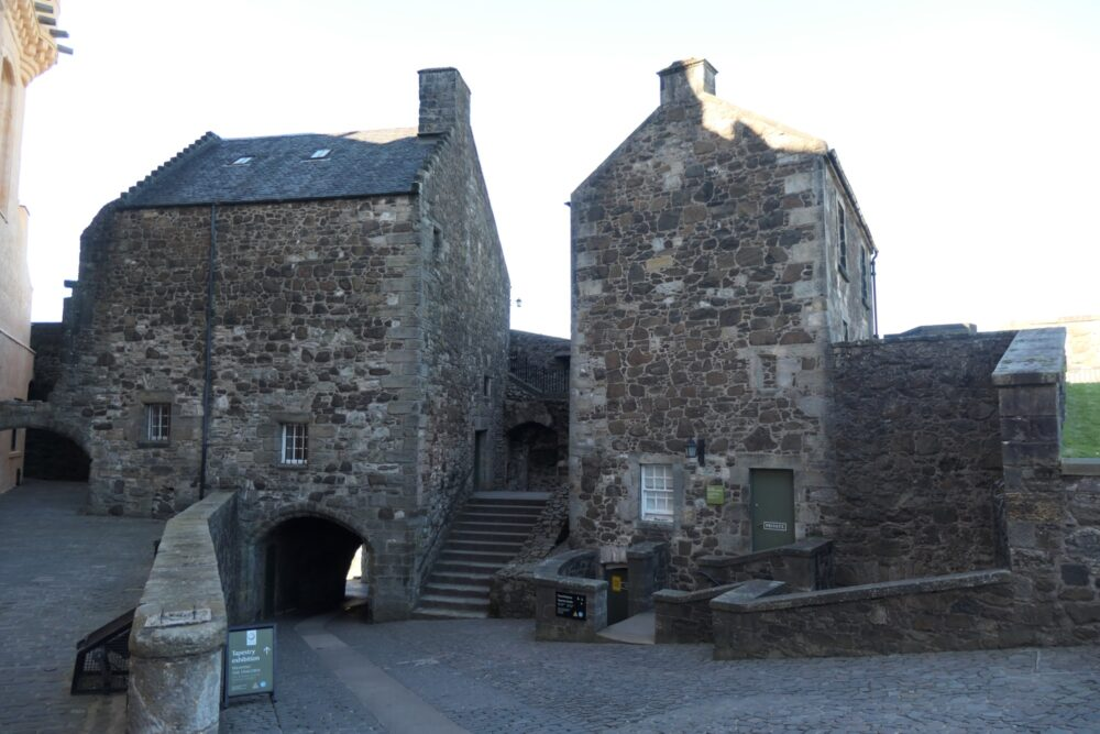 The gate house of the Stirling Castle north gate.