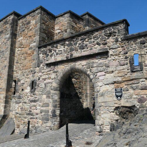 Inner gate at the Edinburgh Castle.