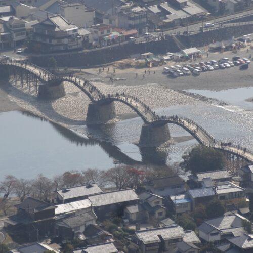 Kintai Bridge seen from Iwakuni Castle