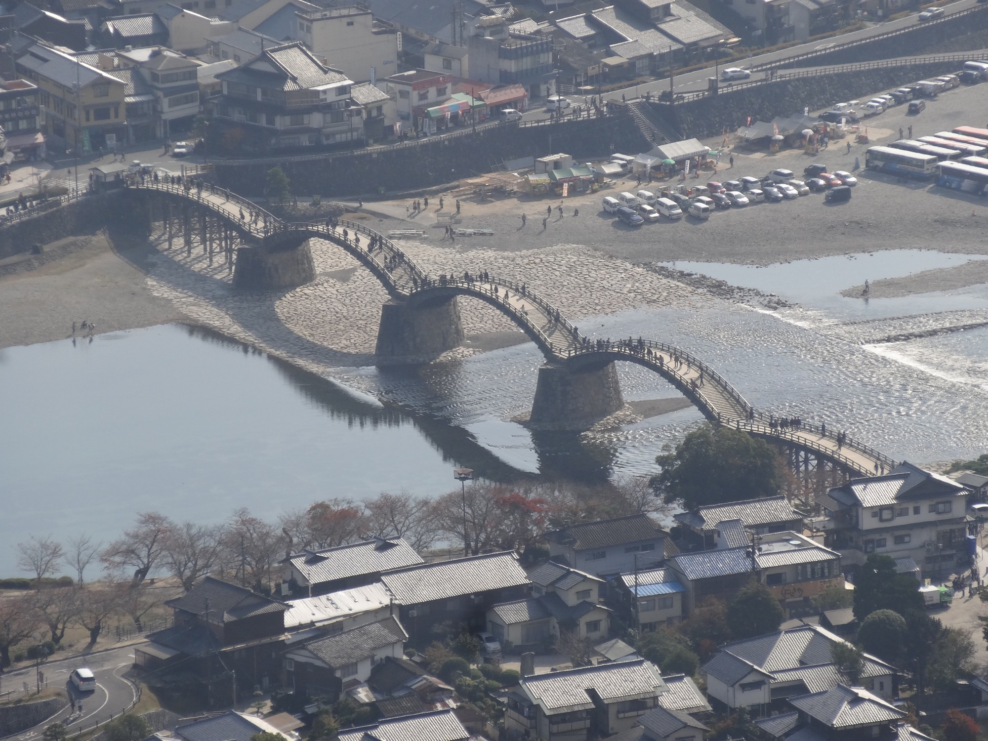 Kintai Bridge seen from Iwakuni Castle