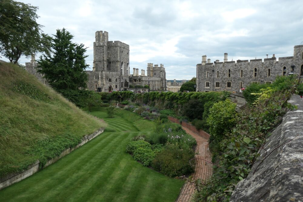 Motte of the round tower at Windsor Castle