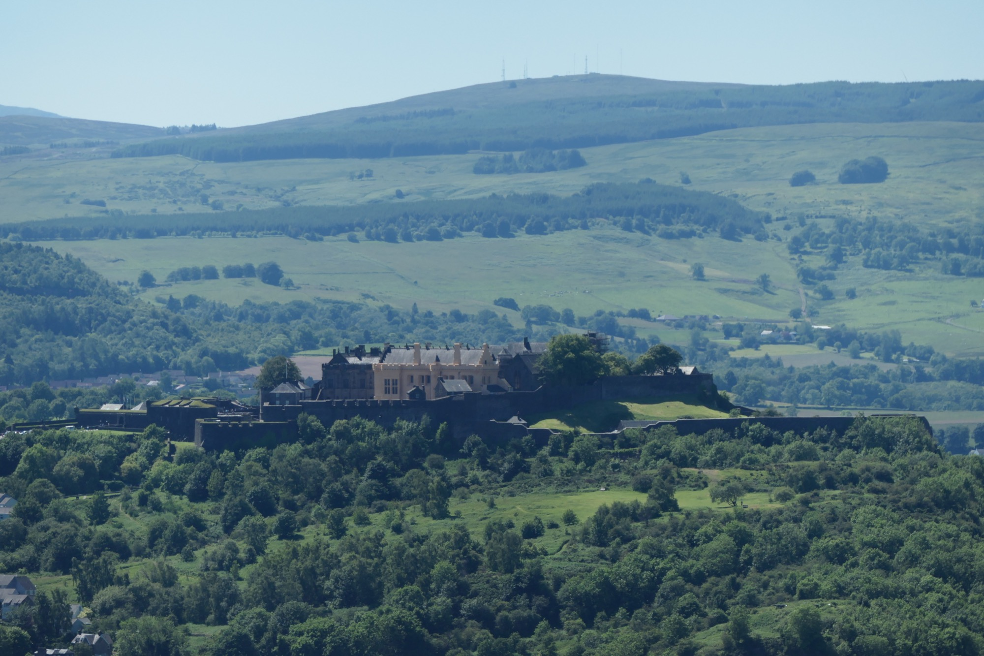 Stirling Castle seen from William Wallace Monument