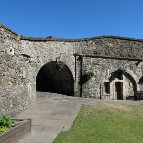 A small tunnel at the entrance of Stirling Castle.