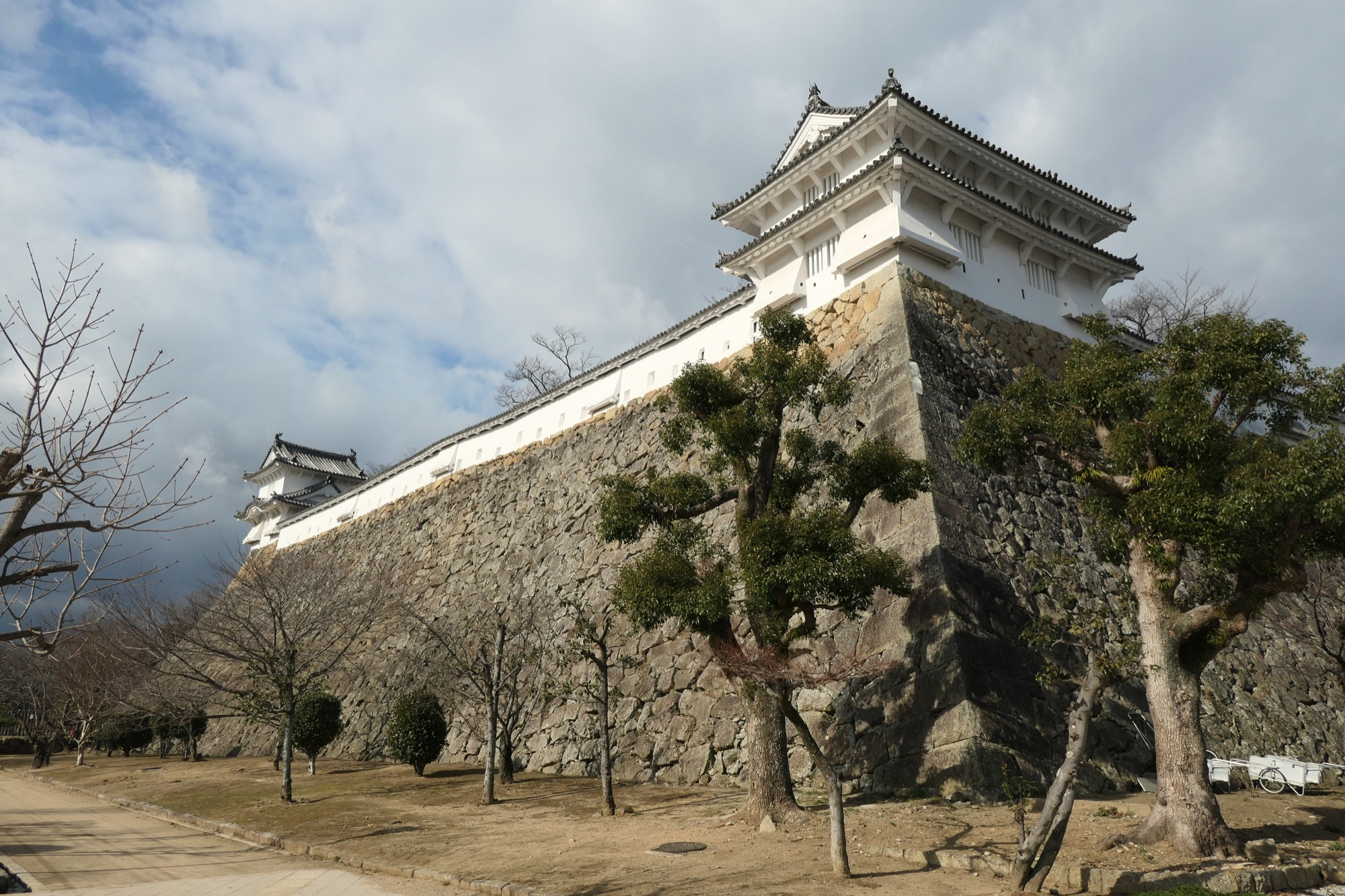 Bailey at Himeji Castle