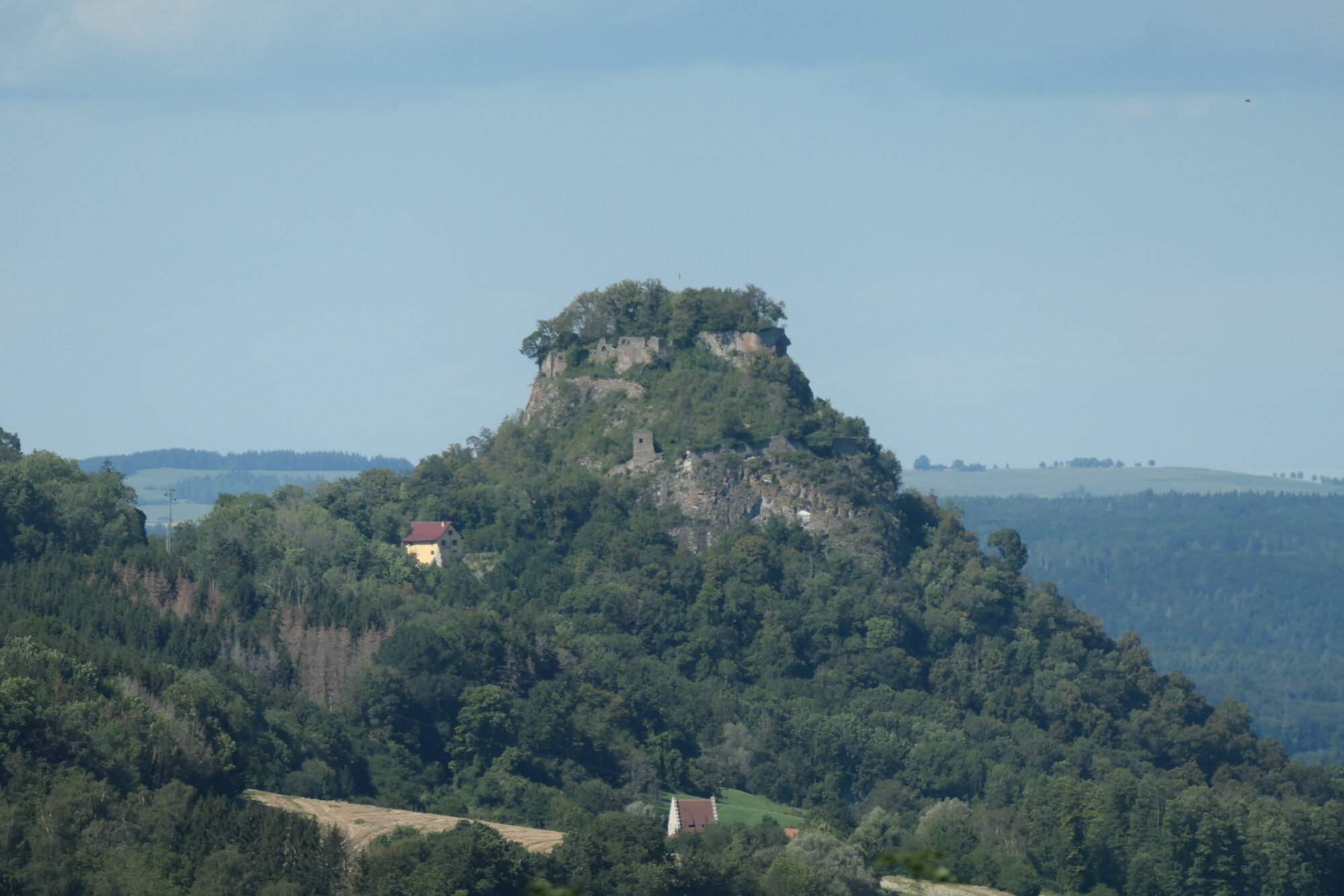 Castle Hohenkrähen seen from Hohentwiel