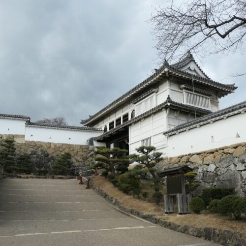 One of the gates at Himeji castle