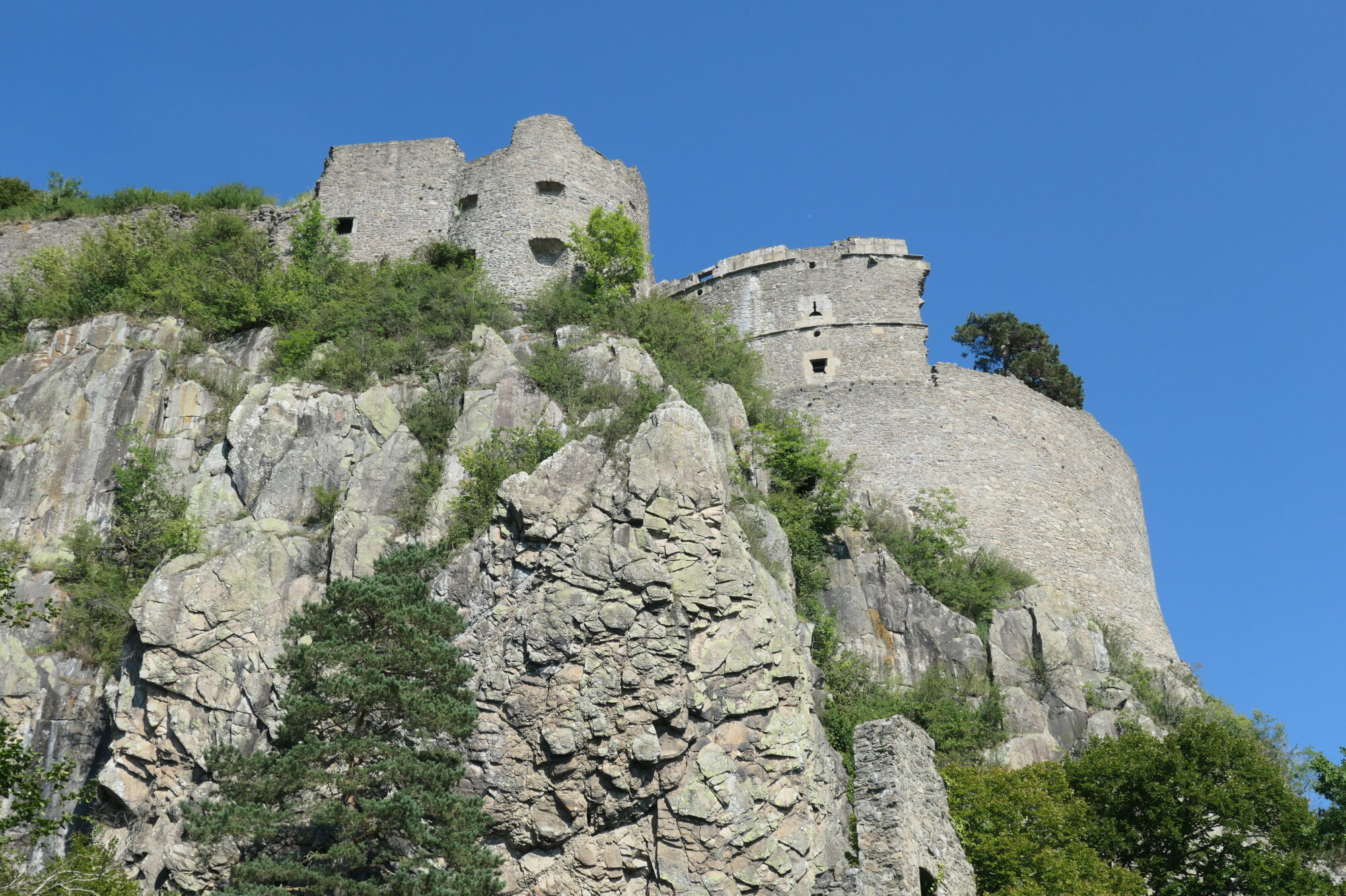 The massive ruins of castle hohentwiel