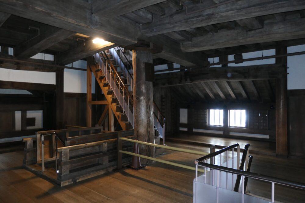 Fifth floor at Himeji Castle