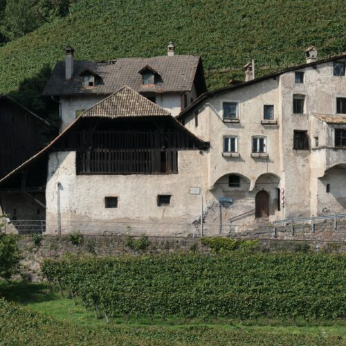 Medieval house close to Treuenstein castle in Bolzano, south Tyrol, Italy