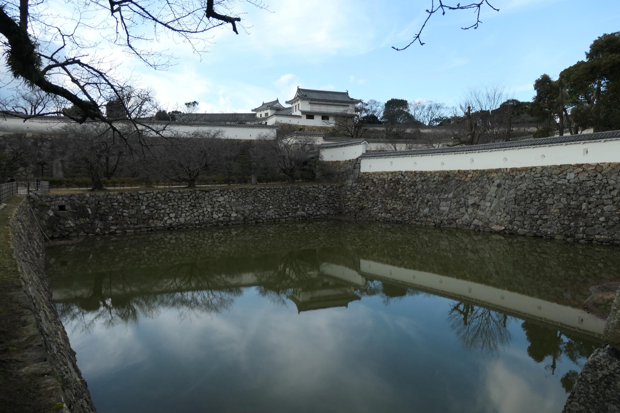 Moat at Himeji Castle