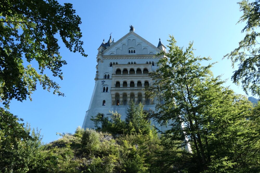 Two story oriel at the back side (west) of Neuschwanstein.
