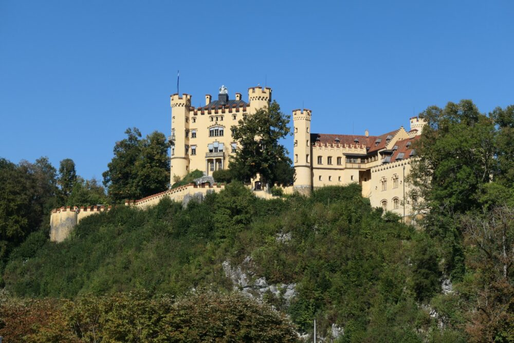 Hohenschwangau seen from the parking area.