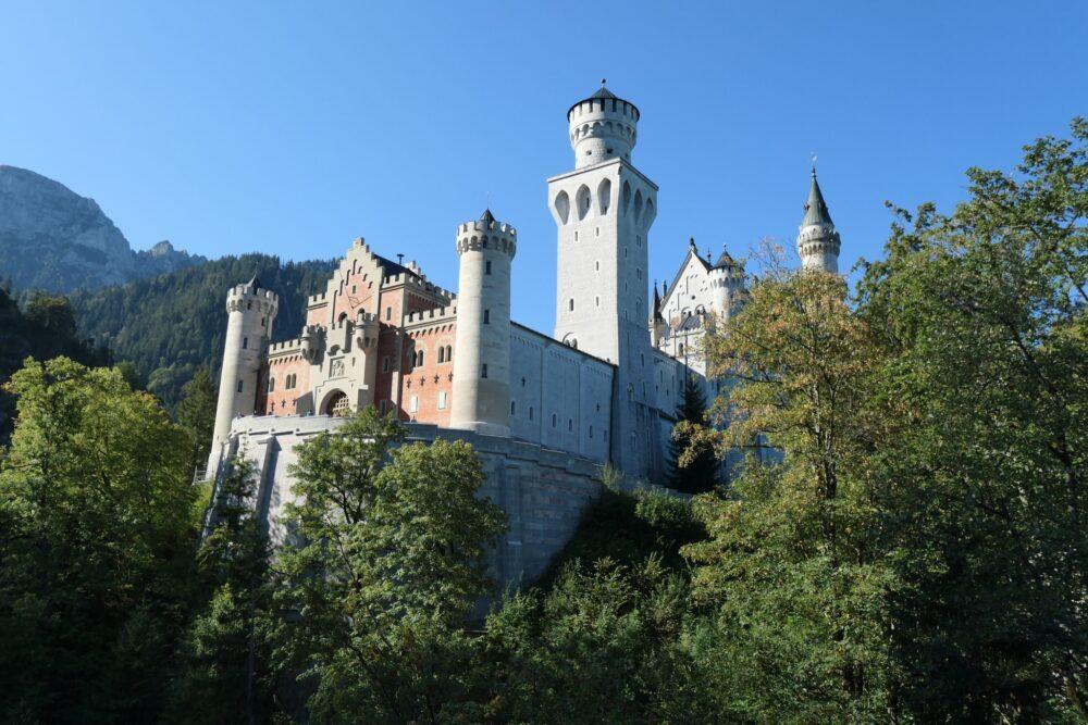 The gatehouse at castle Neuschwanstein.