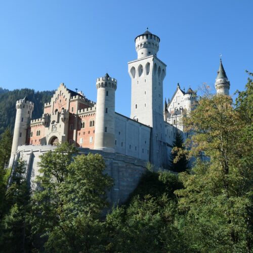 The gatehouse at castle Neuschwanstein.