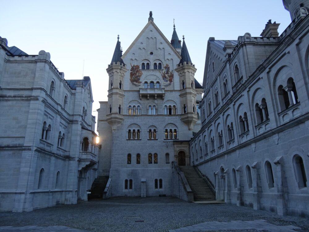 Inner ward at castle Neuschwanstein