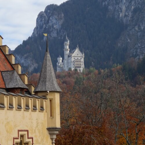 Neuschwanstein seen from Hohenschwangau