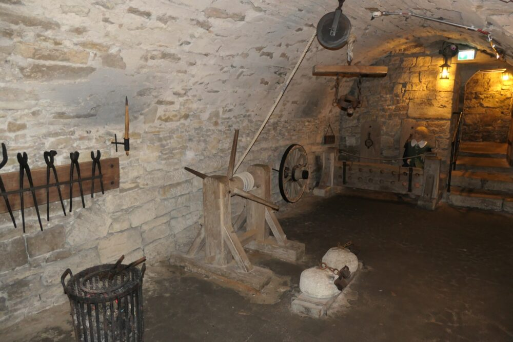 A nicely decorated torture chamber.