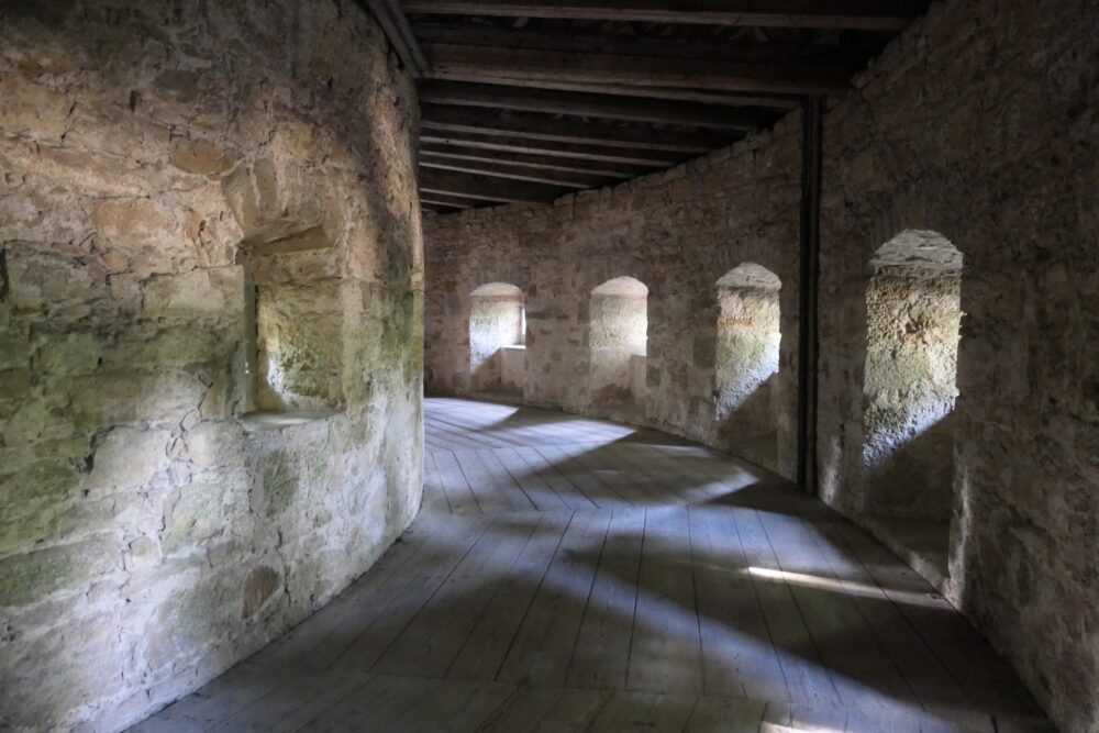 Inside Rothenburg's fortification.