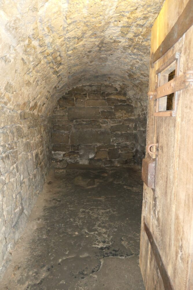The dungeon cell in which Heinrich Toppler spent his last days.