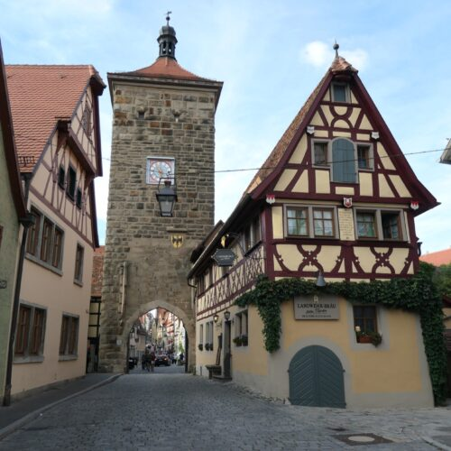One of the towers in Rothenburg