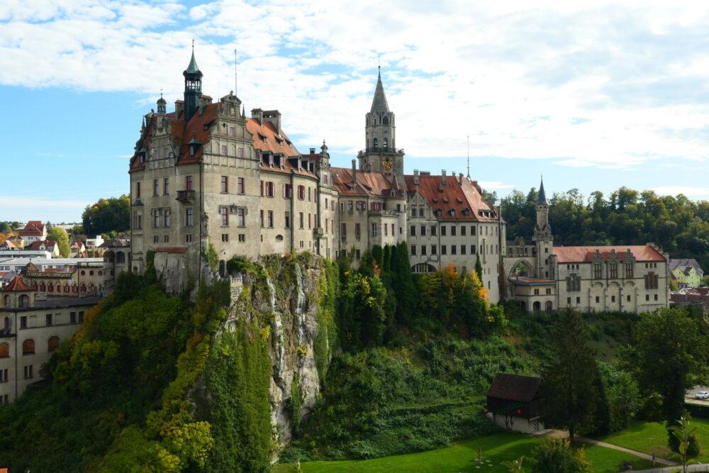 Castle Sigmaringen seen from Mühlberg