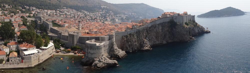 Dubrovnik seen from fort Lovrijenac