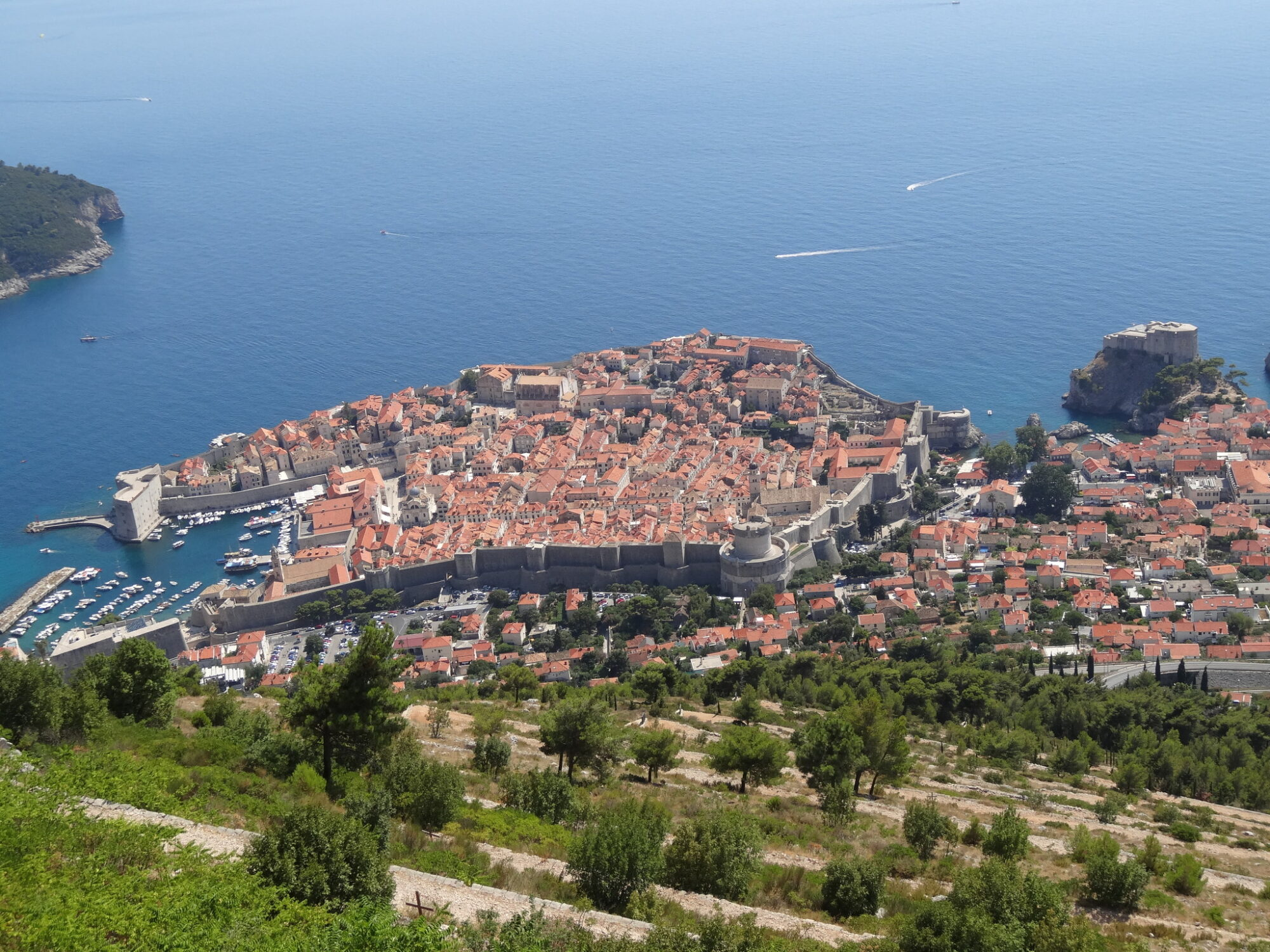 The city of Dubrovnik seen from fort Imperial