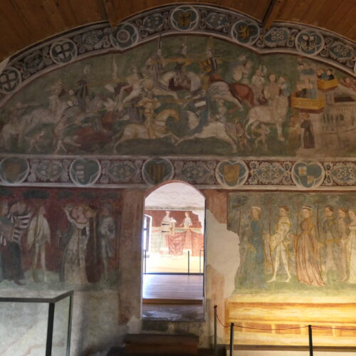 Fresco showing a Knights Tournament