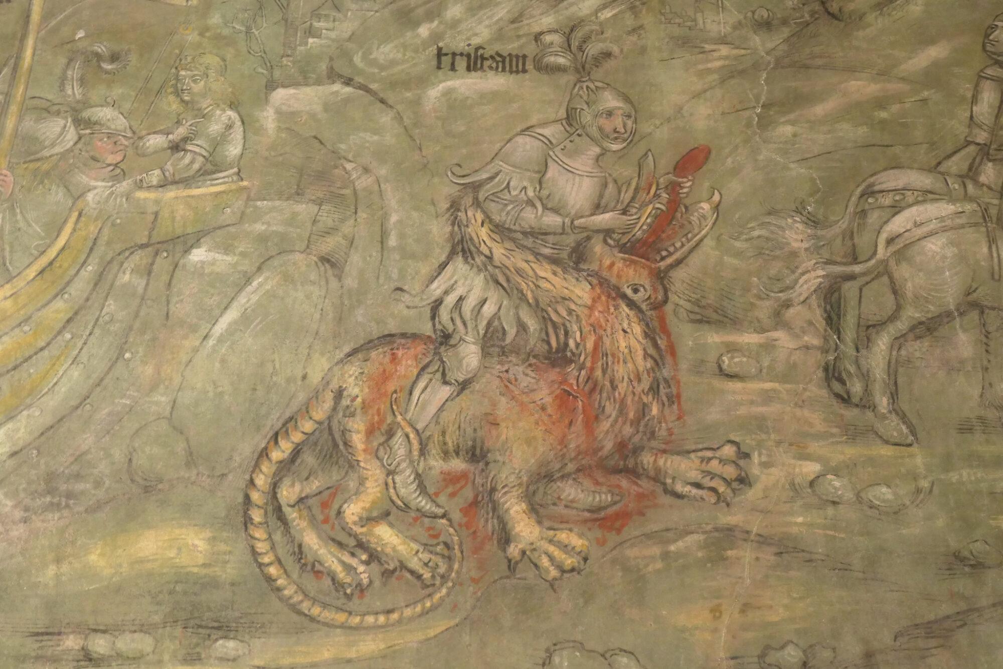 Fresco showing Tristan