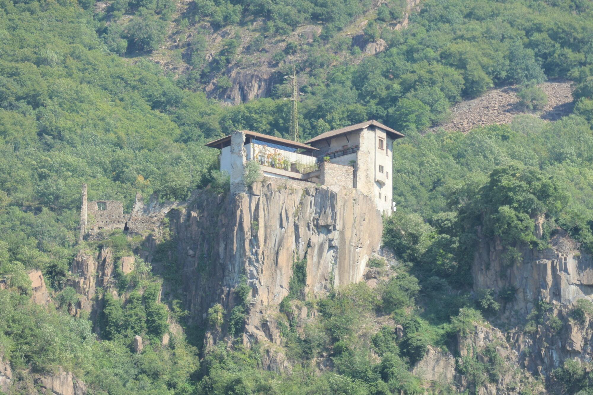 Haselburg Castle seen from Bolzano, South Tyrol, Italy.