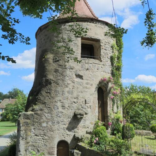Rapunzel's tower at Sommersdorf Castle